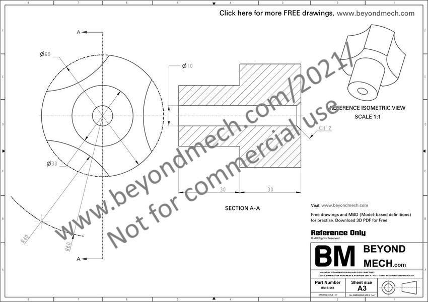 Mechanical Engineering Drawings For Practice