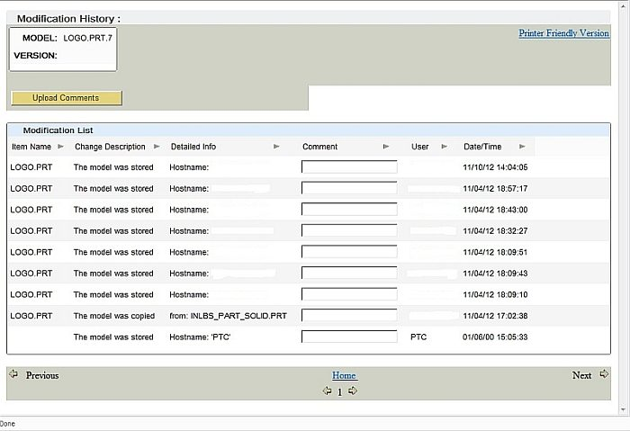 See basic change history of part, assembly or a drawing. (No PLM/ PDM)