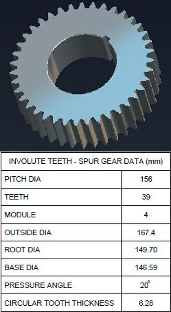 How to model spur gear in CAD